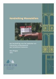 Handreiking Woonateliers - Forum, Instituut voor Multiculturele ...