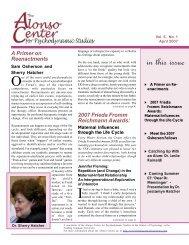 Spring 2007 Newsletter - Fielding Graduate University