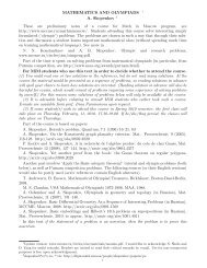 MATHEMATICS AND OLYMPIADS 1 A. Skopenkov 2 These are ...