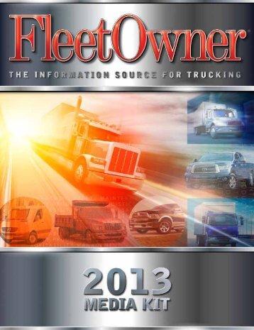 2013 Media Kit - Fleet Owner