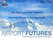 City Early Land Use Proposal Presentation - PDX Airport Futures