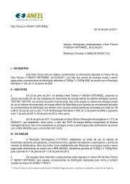 Nota Técnica Complementar nº 078/2011 - SRT/ANEEL