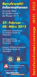 Berufsinformationstage (BIT) 2012 Berufswahl- Informationen aus ...
