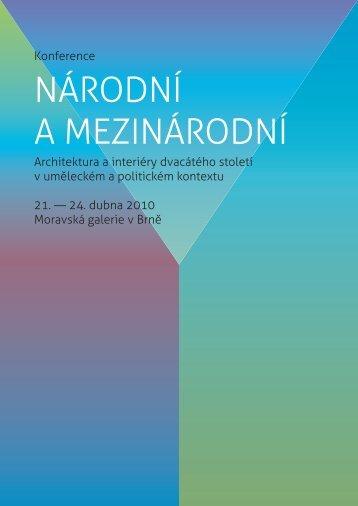 Konference Národní mezinárodní brožura - Moravská galerie v Brně
