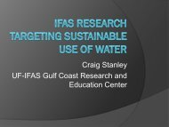 IFAS Research Targeting Sustainable Use of Water - Florida Ag Expo