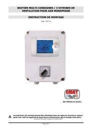 boitier multi-consignes / 3 vitesses de ventilation pour azn ... - EMAT