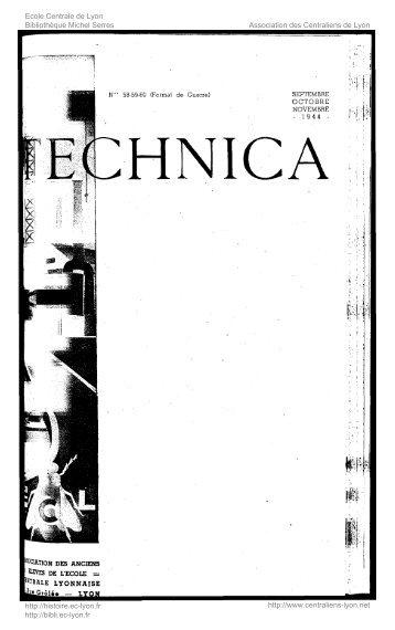 Revue Technica, année 1944, numéro 58 - Histoire de l'École ...