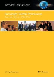 Annual Report 2006/07 - Knowledge Transfer Partnerships