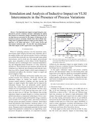 Simulation and Analysis of Inductive Impact on VLSI Interconnects in ...