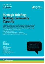 Strategic Briefing - Think Local Act Personal