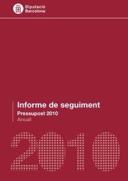 Informe de seguiment del pressupost 2010 - Seu Electrònica