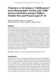 Voluntary or Involuntary Childlessness? Socio ... - Väestöliitto
