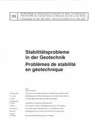 Stabi l itãtsprobleme in der Geotechnik Problemes ... - SGBF-SSMSR