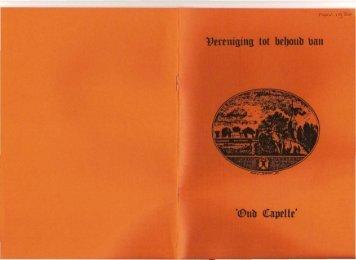 Nieuwsbrief 1980 11 - Historische Vereniging Capelle aan den IJssel