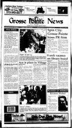 Spin City: Grosse Pointe hires PR firm - Local History Archives
