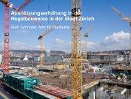 Ausnützungserhöhung in der Regelbauweise in der Stadt Zürich - FSU