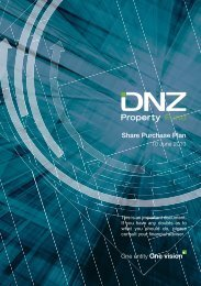 Share Purchase Plan - DNZ Property Fund