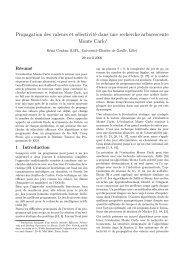 Propagation des valeurs et sélectivité dans une recherche ... - Inra