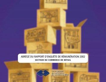 abrégé du rapport d'enquête de rémunération 2002 - Détail Québec