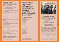Der sozialen Opposition eine Stimme im Parlament! - Soziales Berlin