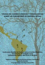 Causas del cambio climático y consecuencias sobre las ...