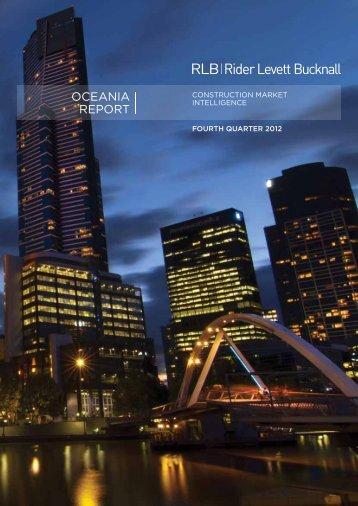 RLB Oceania Report Fourth Quarter 2012 - Rider Levett Bucknall