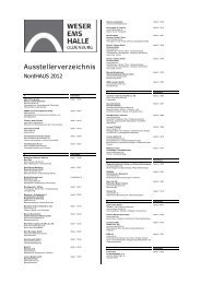 Ausstellerverzeichnis - Weser-Ems-Hallen Oldenburg