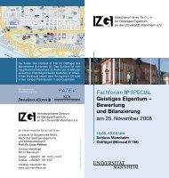 Bewertung und Bilanzierung - IZG