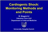 Cardiogenic Shock: Monitoring Methods and end Points