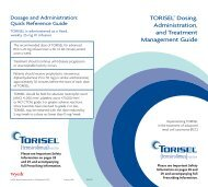 TORISEL® Dosing, Administration, and Treatment ... - PfizerPro