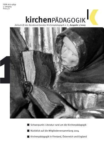 Heft 1-05.indd - Bundesverband Kirchenpädagogik