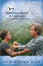 2008 - Newfoundland and Labrador Film Development Corporation
