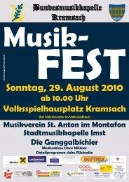 Sonntag, 29. August 2010 - Bundesmusikkapelle Kramsach