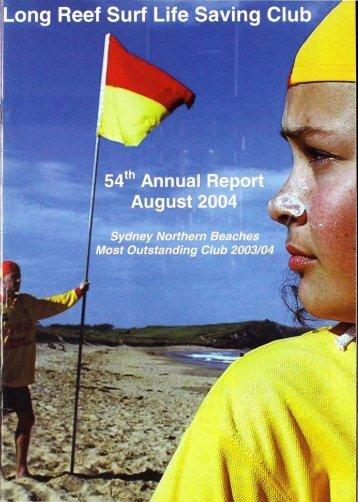 54th Annual Report - Season 2003-04 - Long Reef Surf Life Saving ...