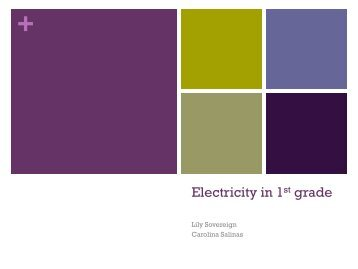 Electricity in 1st grade - Faculty Web Pages