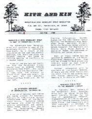 January - February 1988 - Marshfield Area Genealogy Group