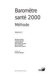 Baromètre santé 2000 - Inpes