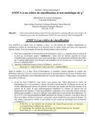 ANOVA à un critère de classification - Université de Montréal