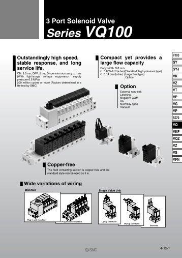 VQ100 High Speed Solenoid Valve