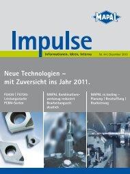 Neue Technologien - MAPAL Dr. Kress KG