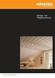 Verlege- und Pflegeanweisung - Meister-Lichtportal
