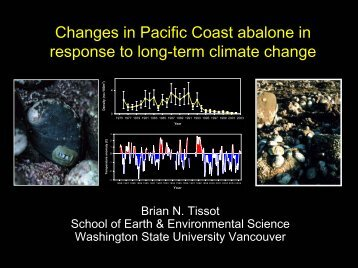 Abalone and Climate Change - WSU Vancouver Research ...