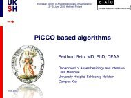 PiCCO based algorithms - PULSION Medical Systems SE