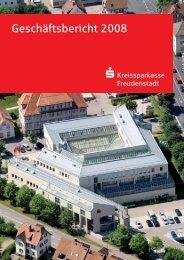 Geschäftsbericht 2008 - Kreissparkasse Freudenstadt