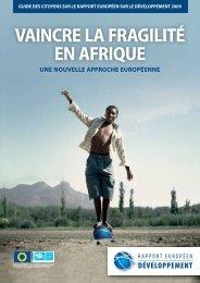 vaincre la fragilité en afrique - European Report on Development