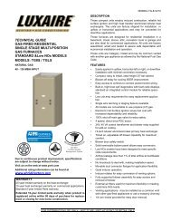 TECHNICAL GUIDE GAS-FIRED RESIDENTIAL SINGLE ... - UPGNet
