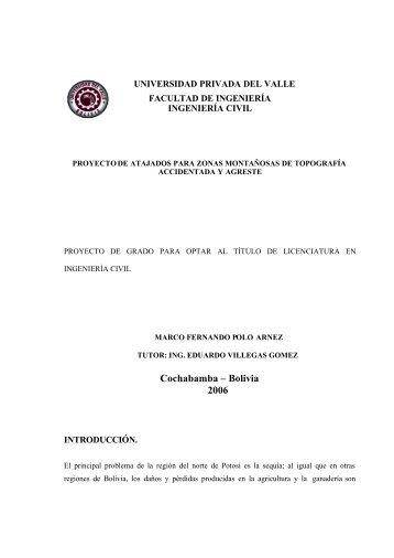 Proyectos de Atajados para Zonas Montañosas - Riesgo y Cambio ...