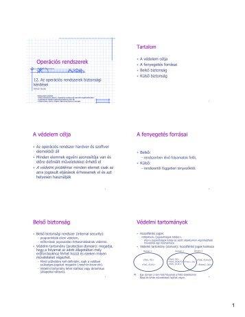 Operációs rendszerek biztonsági kérdései