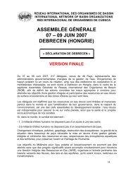 assemblée générale 07 – 09 juin 2007 debrecen (hongrie) - INBO
