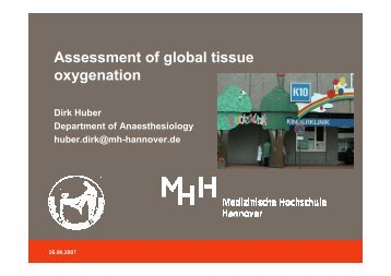 Assessment of global tissue oxygenation - PULSION Medical ...